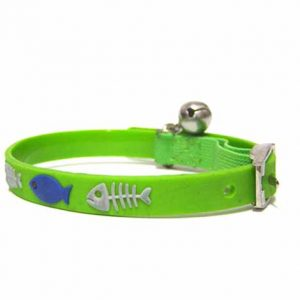 FISHBONE CAT COLLAR S GREEN