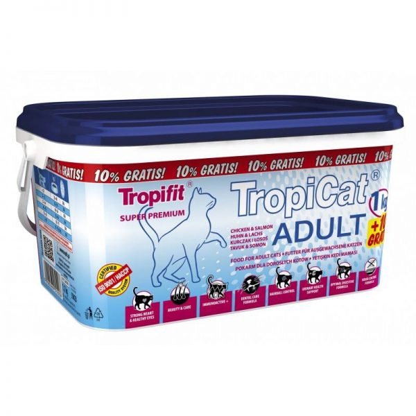 TROPICAT ADULT CHICKEN&SALMON 1,1kg