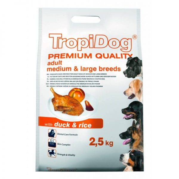 TROPIDOG PREMIUM MEDIUM/LARGE DUCK 2,5kg