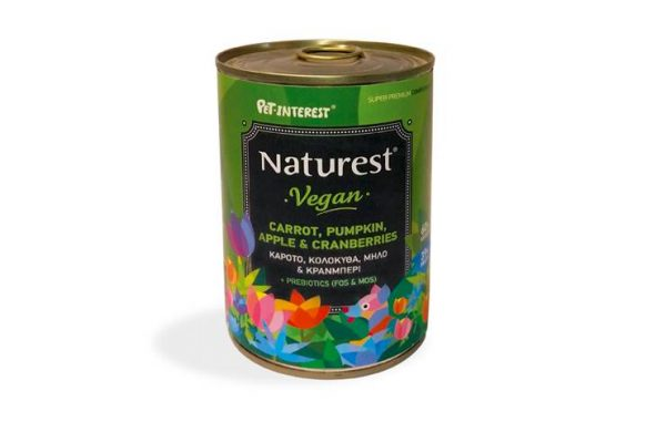 VEGAN PET FOOD WITH FRESH VEGETABLES AND FRUITS 400gr