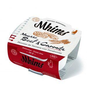 MHIMS CAT MOUSSE Beef & Carrots – Βοδινό & Καρότα 70gr