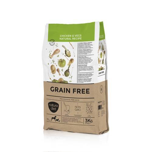 NATURA DIET GRAIN FREE CHICKEN & VEGS NATURAL RECIPE 3KG
