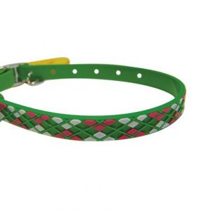 ROMB LINE 3D COLLARS S GREEN