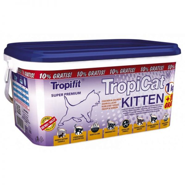 TROPICAT KITTEN CHICKEN&SALMON 1,1kg