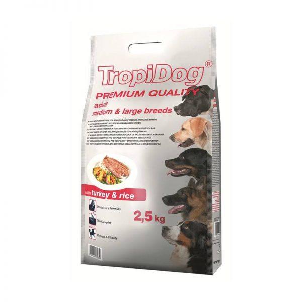 TROPIDOG PREMIUM MEDIUM/LARGE TURKEY 2,5kg