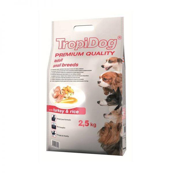 TROPIDOG PREMIUM SMALL TURKEY 2,5kg