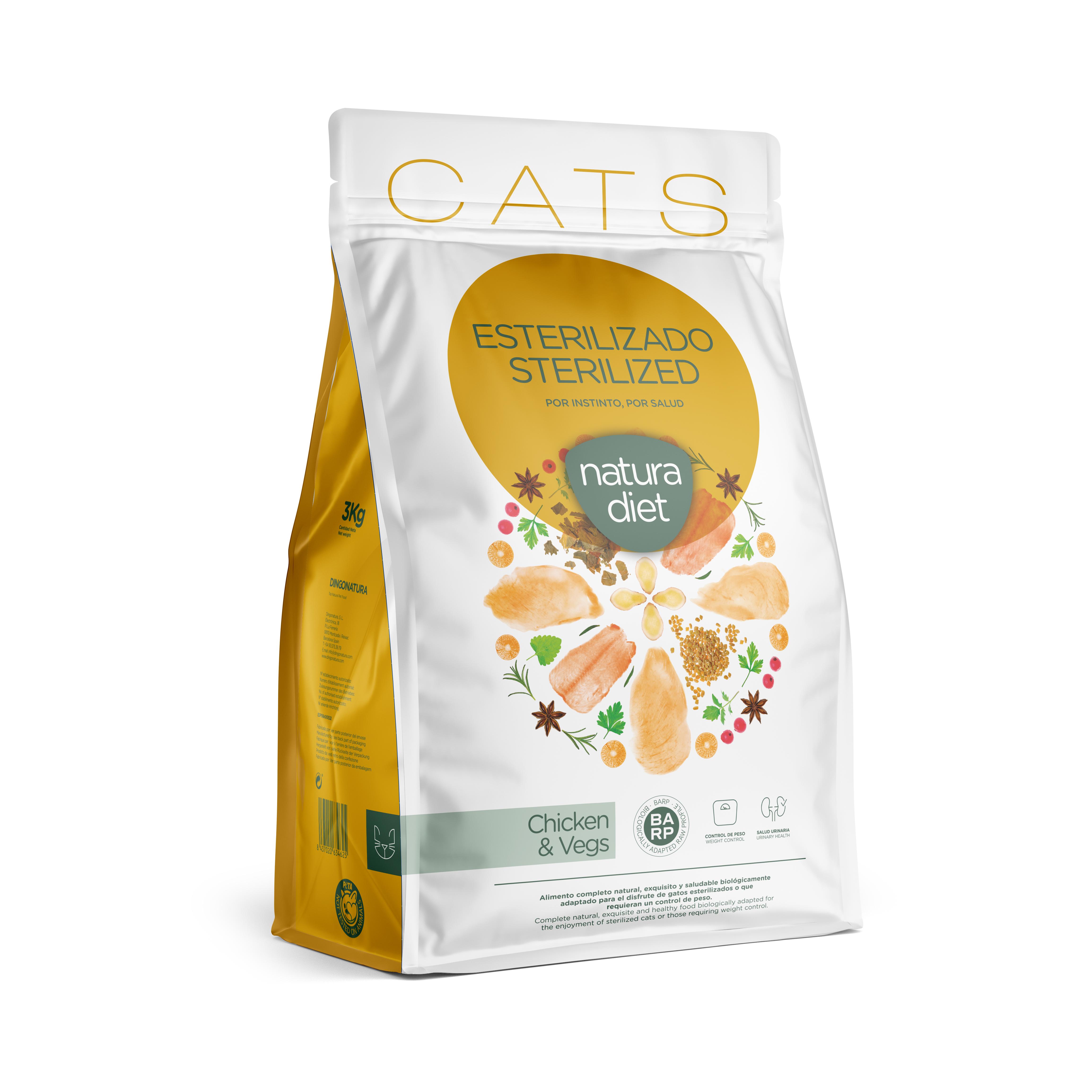 10022 natura diet cats sterilized 3 kg